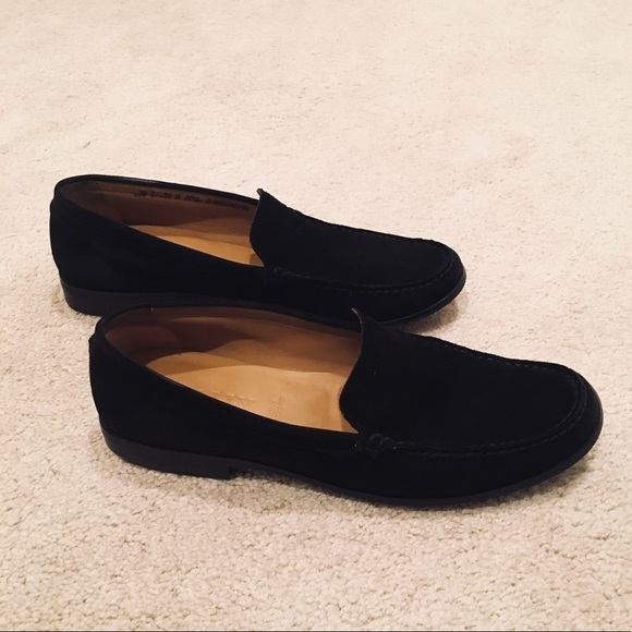 Bally Shoes | Womens Black Suede Loafers | Poshma