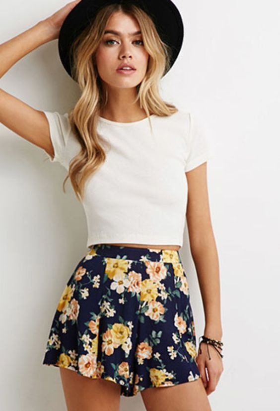 SPRING & SUMMER FASHION TRENDS! Gorgeous high waisted floral .