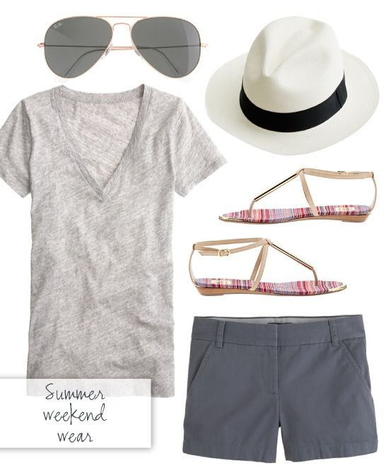 Summer weekend wear | Summer weekend outfit, Weekend wear, Weekend .