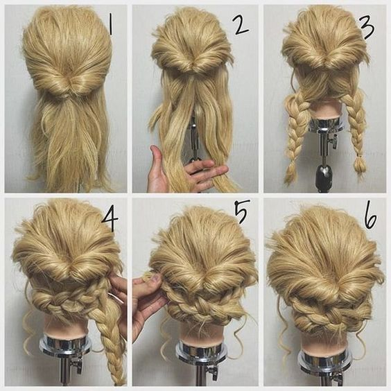 21 Super Easy updos for beginners - StyleAcademy.net   Long hair .