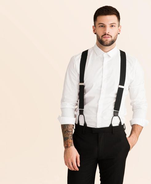 Back to Black - Formal Black Suspenders - JJ Suspende