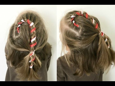 Candy Cane Hairstyle - for Short or Long Hair | 12 Braids of .