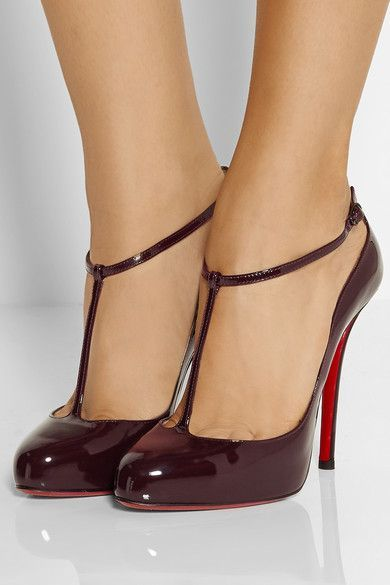 T-bar pumps for women | Heels, Christian louboutin shoes, Sho