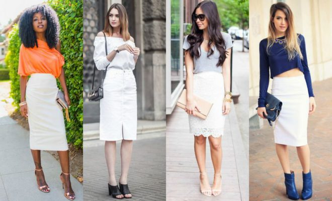 44 Ideas For A Beautiful White Pencil Skirt Outfit | Style & Tips .