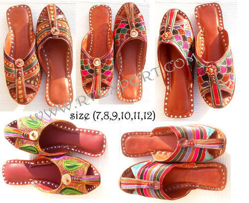 Leather Women Traditional Indian Wedding Jaipuri Shoes, Rs 295 .