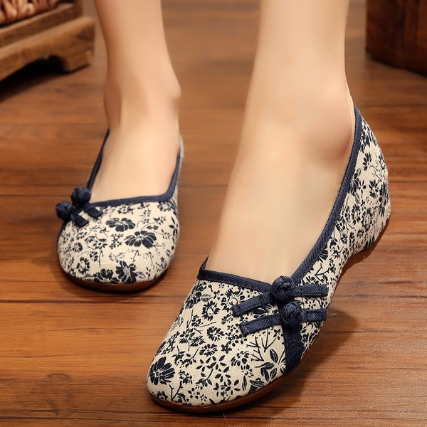 1 Pair Chinese Style Old Beijing Cloth Shoes Women Chinese .