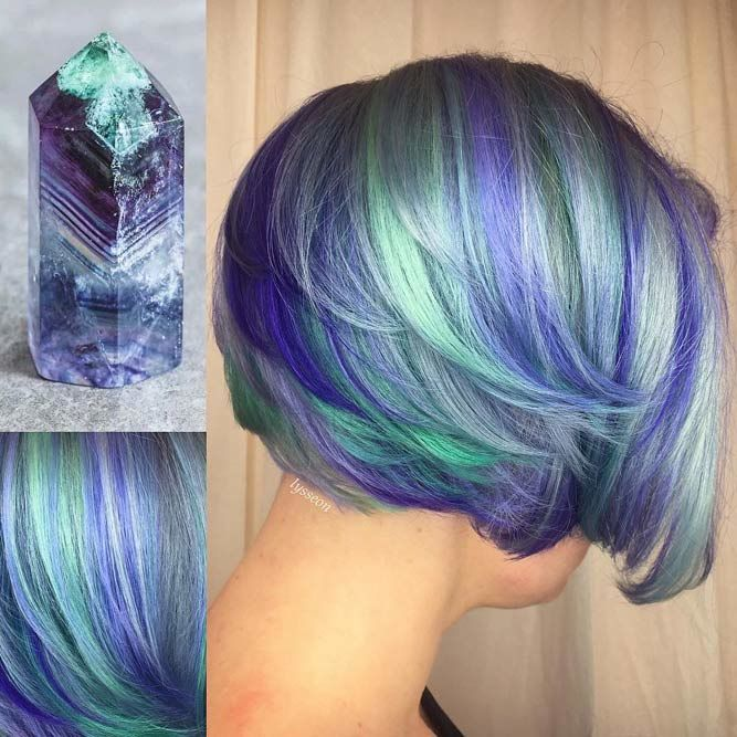 30 Hot Geode Hair Color Styles | LoveHairStyles.c