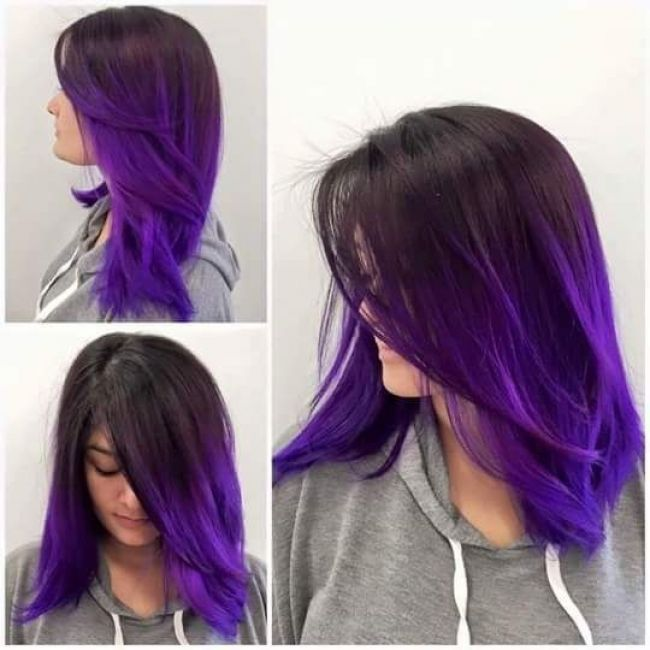 15 Inspired Trending Geode Hair Color Ideas | Ombre hair color .