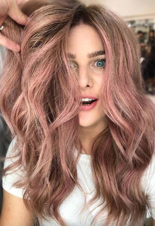 53 Beautiful Summer Hair Colors, Trends & Tips | Rose hair color .