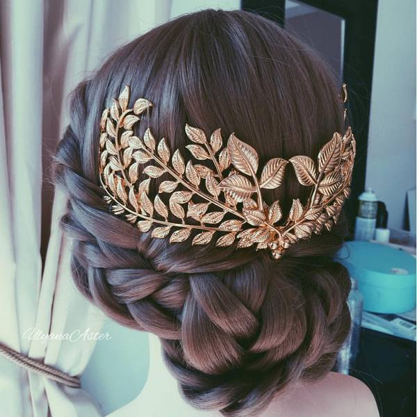 35 Wedding Updo Hairstyles for Long Hair from Ulyana Aster | Deer .