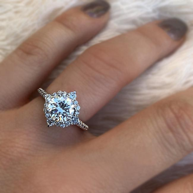 Barkev's Unique Halo Engagement Ring 7967L | Barkev