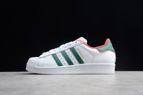 Adidas Superstar Unisex Shoes Sneakers White Green Red BC0198 .