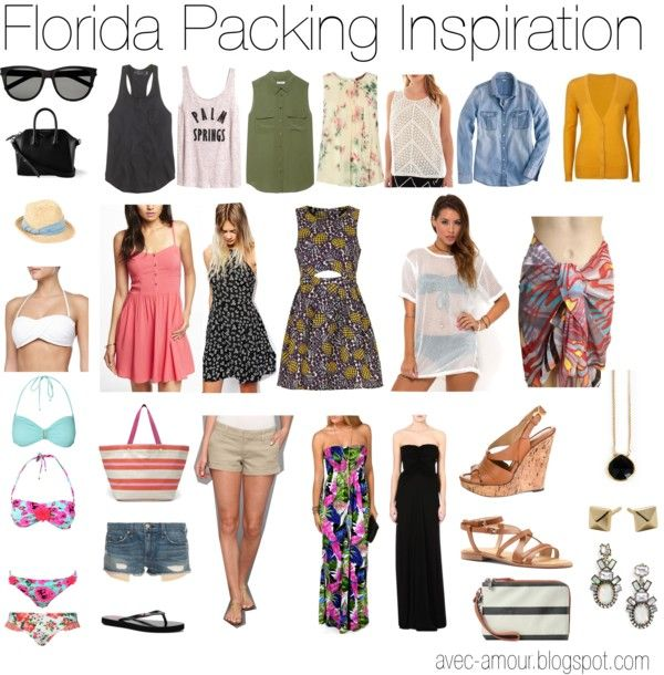 Avec Amour : How to Pack for a Month in Florida | Florida outfits .