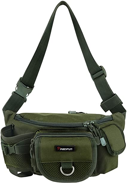 Amazon.com : Piscifun Fishing Bag Portable Outdoor Fishing Tackle .