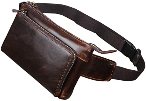 Amazon.com | Hebetag Leather Fanny Pack Waist Bag for Men Women .