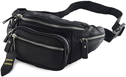Amazon.com : Fanny Pack Multifunction, Genuine Leather Hip Bum Bag .