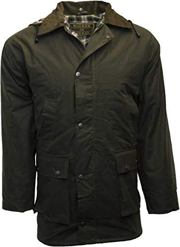 New Walker and Hawkes Men's Padded Wax Jacket Countrywear Hunting .