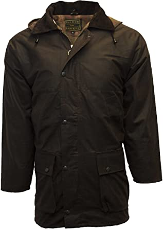 Walker and Hawkes Men's Padded Wax Jacket Countrywear Hunting .