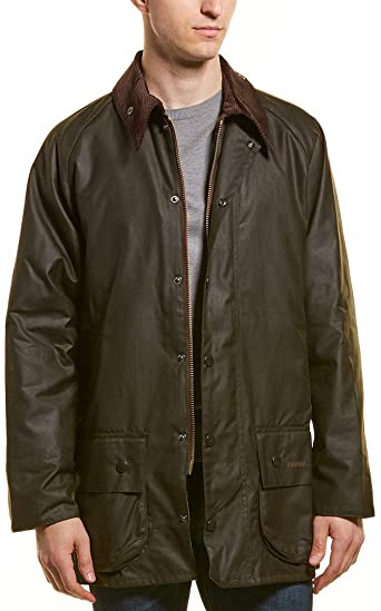 Barbour Classic Beaufort Wax Jacket - Olive at Amazon Men's .