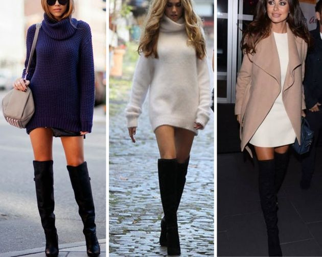 Ways to wear heeled 'over-the-knee' boots | Fashion, Dress with .