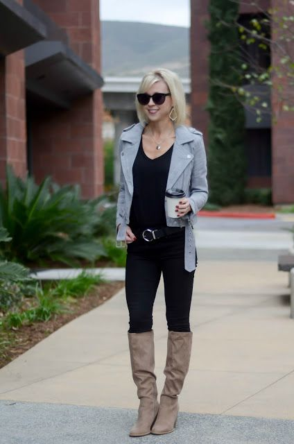 Four Ways to Wear Taupe Knee-High Boots | Taupe knee high boots .