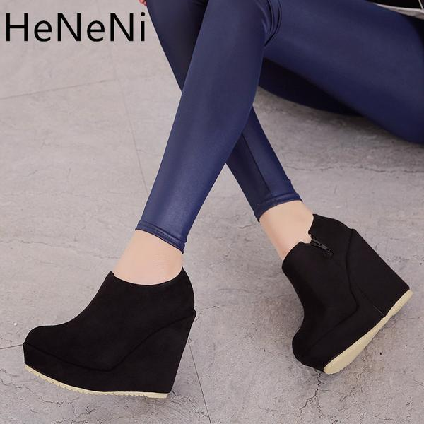2018 Autumn Winter New Stylish Women Ankle Boots Sexy Platform .