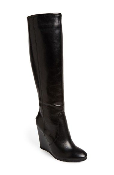 COACH 'Della' Knee-High Wedge Boot (Women) | Nordstrom | Knee high .