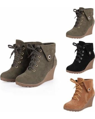 Amazing Savings on Mupoo Ladies Wedge Boots Women Memory Foam .
