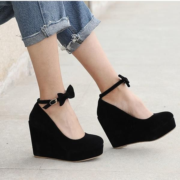 MCCKLE Women High Heels Shoes Plus Size Platform Wedges Female .