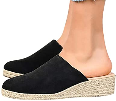 Amazon.com: Women's Closed Toe Espadrille Wedges Mules Slingback .