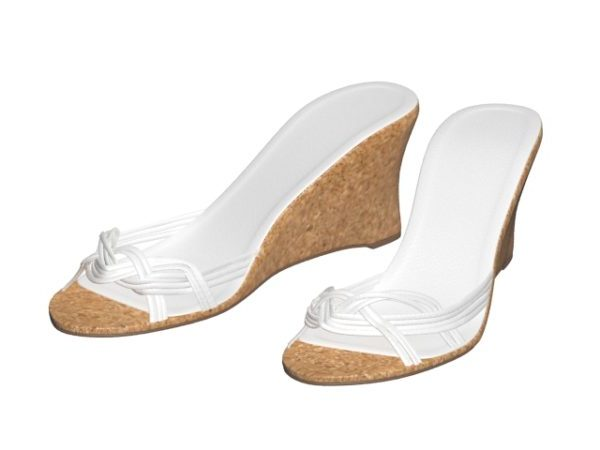 Wedge Mule Women Sandals Free 3d Model - .Max, .Vray - Open3dModel .