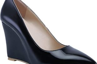 Amazon.com | Classic Wedges for Women Pointed Toe Slip On Wedge .