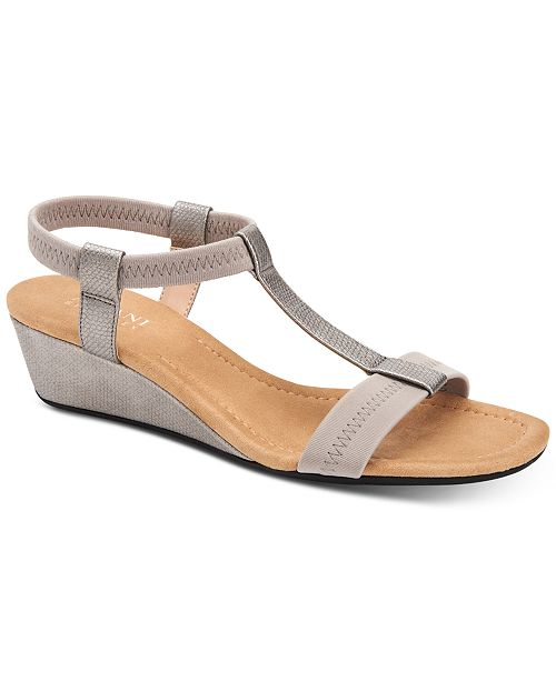 Alfani Women's Step 'N Flex Voyage Wedge Sandals, Created for .