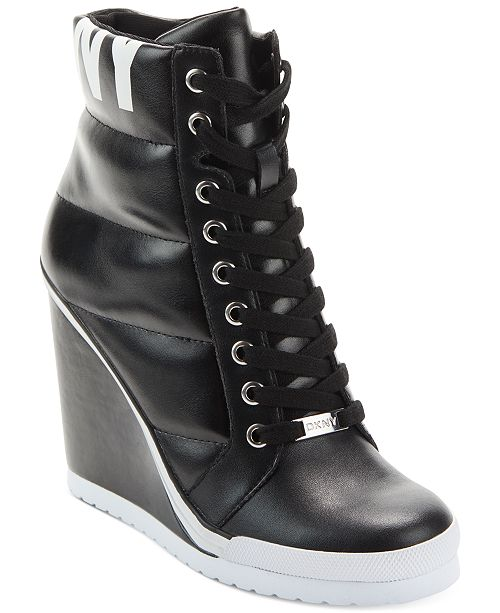 DKNY Women's Noho Wedge Sneakers & Reviews - Athletic Shoes .