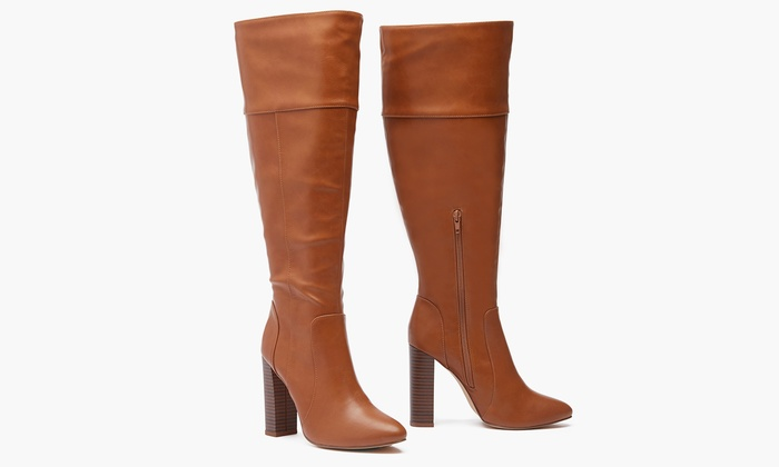 Sociology Women's High-Heel Wide-Calf Boots | (Size 11) | Group