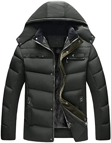 Winter Windproof Jackets Men Thicken Mens Hooded Jacket Casual .