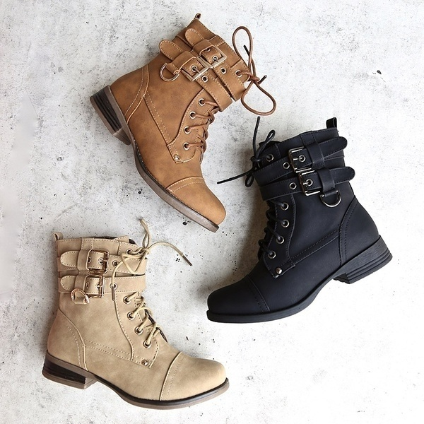 Autumn Winter Women's Fashion Winter Ankle Booties Sexy Round Head .