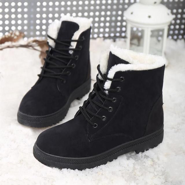 LAKESHI Women Boots 2017 Warm Snow Boots Women Ankle Winter Boots .