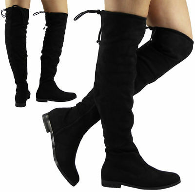 Womens Knee High Boots Ladies Long Winter Fashion Casual Low Heel .