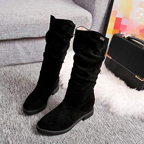 Gyoume Winter Boots Women Flat Wedges Boot Sho