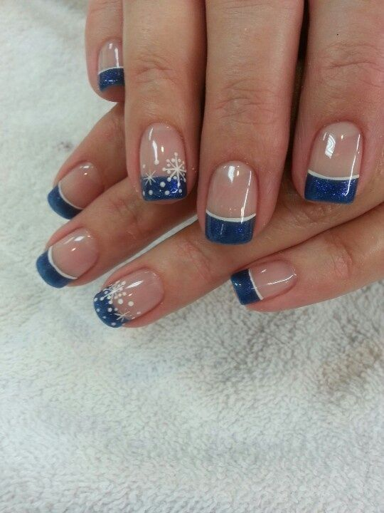 Winter French Tip Nail Designs
