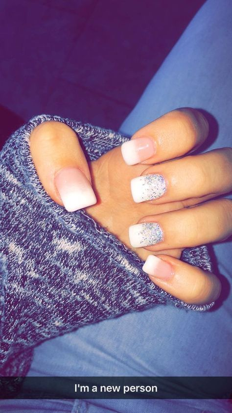 23 Winter French Tip Nail Designs | Fall acrylic nails, French tip .