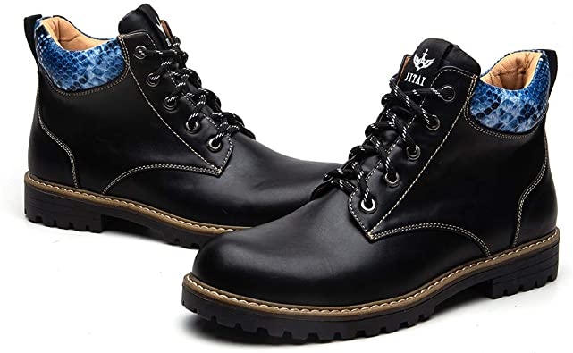 Amazon.com | JITAI British Men Boots Autumn Winter Shoes Men .