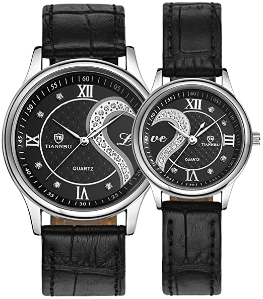 Amazon.com: Romantic His and Hers Watches,Pair Hearts Wristwatches .